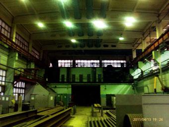 Освещение цеха светильниками ДРЛ-400